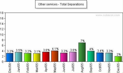 Other services Monthly Employee Turnover Rates - Total Separations